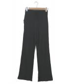 Sea Room Lynn(シールームリン)の古着「ベーシックリブストレートパンツ」|ブラック
