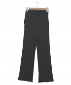 Sea Room lynn(シールームリン)の古着「ベーシックリブストレートパンツ」 ブラック