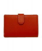 KITAMURA(キタムラ)の古着「2つ折り財布」|オレンジ
