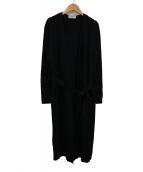 VONDEL(フォンデル)の古着「ベルト付ニットワンピース」|ブラック