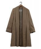 ROPE(ロペ)の古着「シャイニービーバーウールコート」|ベージュ