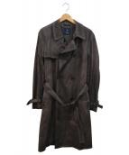 SEALUP(シーラップ)の古着「炙り出しトレンチコート」|ブラウン