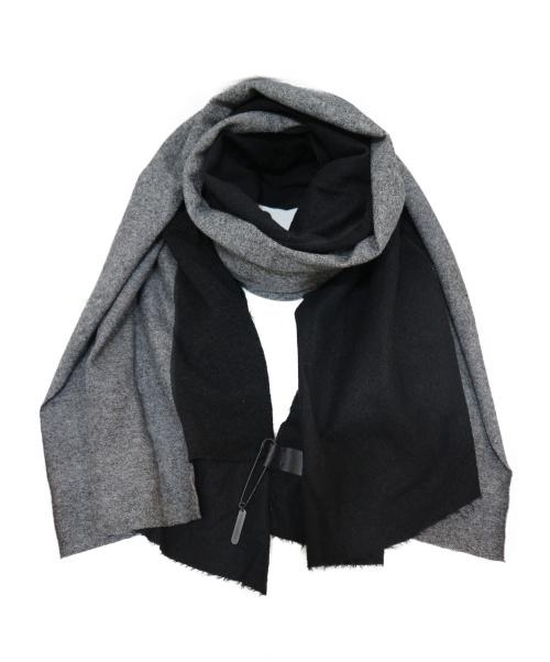 PATRICK STEPHAN(パトリックステファン)PATRICK STEPHAN (パトリックステファン) 大判ストール ブラック  Jersey scarf wrapの古着・服飾アイテム