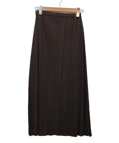 PLEATS PLEASE(プリーツプリーズ)PLEATS PLEASE (プリーツプリーズ) プリーツスカート ブラウン サイズ:3  PP31-JG295の古着・服飾アイテム