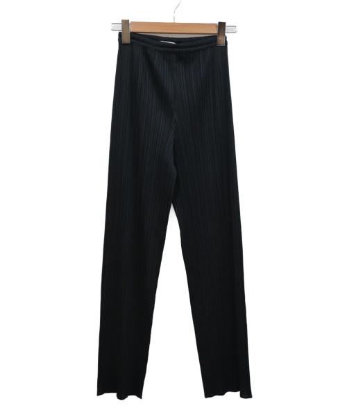 PLEATS PLEASE(プリーツプリーズ)PLEATS PLEASE (プリーツプリーズ) プリーツパンツ ブラック サイズ:2 日本製の古着・服飾アイテム