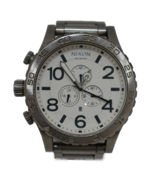 NIXON(ニクソン)NIXON (ニクソン) 腕時計 ホワイト THE 51 30 CHRONO ステンレススチールの古着・服飾アイテム