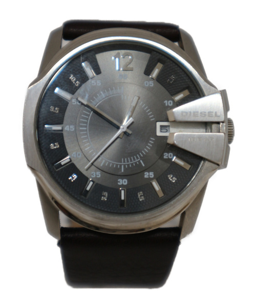 DIESEL(ディーゼル)DIESEL (ディーゼル) 腕時計 グレー DZ-1206 レザーの古着・服飾アイテム
