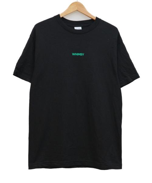 WHIMSY(ウィムジー)WHIMSY (ウィムジー) VANSコラボロゴプリントTシャツ ブラック サイズ:Mの古着・服飾アイテム