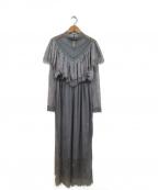 Belle vintage(ベルビンテージ)の古着「チュールレースドレスワンピース」 グレー