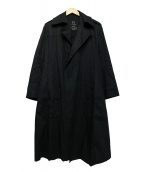 Ys(ワイズ)の古着「トレンチコート」 ブラック