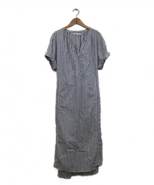 XIRENA(キセレナ)XIRENA (キセレナ) ルーズストライプシャツワンピース ホワイト×ブルー サイズ:XS  ESTNATION取扱の古着・服飾アイテム