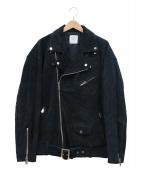 UNITED TOKYO(ユナイテッドトウキョウ)の古着「オーバーサイズスウェードライダースジャケット」|ネイビー