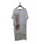 DIESEL(ディーゼル)の古着「チュールレイヤードロングTシャツ」|ホワイト
