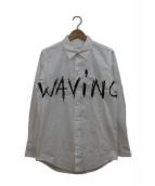 JULIEN DAVID(ジュリアンデイヴィッド)の古着「WAVING Embroidery Cotton Broad」|ホワイト
