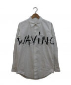 JULIEN DAVID(ジュリアンデイヴィット)の古着「WAVING Embroidery Cotton Broad」 ホワイト