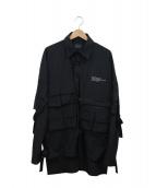 Danke schon(ダンケシェーン)の古着「ビッグカーゴコーチジャケット」|ブラック