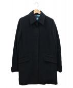 Paul Smith BLACK(ポールスミスブラック)の古着「アンゴラ混コート」|ブラック