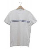 MONCLER(モンクレール)の古着「ロゴプリントTシャツ」|ホワイト×ネイビー