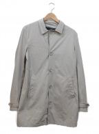 HERNO(ヘルノ)の古着「ナイロンストレッチステンカラーコート」 グレー