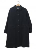 ARMANI JEANS(アルマーニジーンズ)の古着「メルトンコート」|ブラック