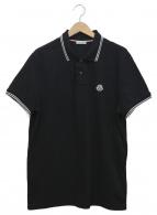 MONCLER(モンクレール)の古着「ワンポイントポロシャツ」|ブラック×ホワイト