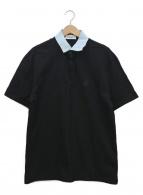 LANVIN(ランバン)の古着「ワンポイントポロシャツ」|ブラック×ブルー