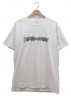 Fucking Awesome(ファッキンオーサム)の古着「ロゴプリントTシャツ」|ホワイト×グリーン