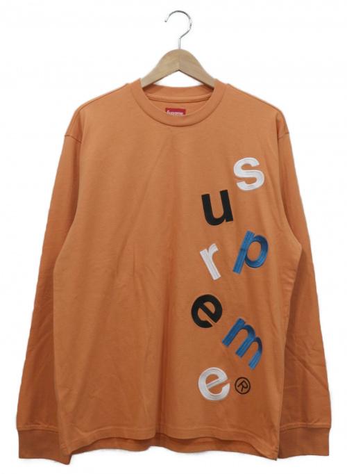 Supreme(シュプリーム)Supreme (シュプリーム) クルーネックロゴカットソー オレンジ×ブルー サイズ:S 20AW WEEK4 SCATTER LOGO LS TOPの古着・服飾アイテム