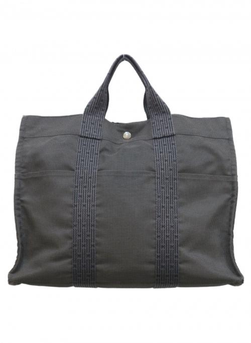HERMES(エルメス)HERMES (エルメス) ハンドバッグ グレー エールラインMMの古着・服飾アイテム