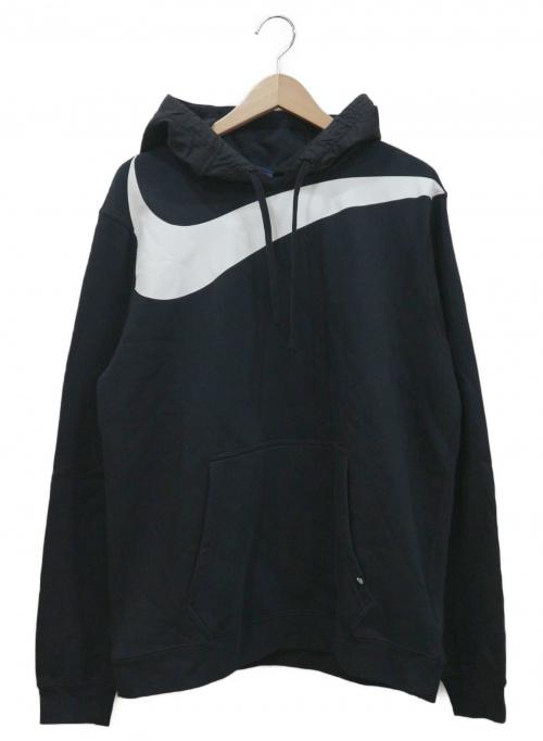 NIKE(ナイキ)NIKE (ナイキ) ビッグロゴハイブリッドフーディ ブラック サイズ:XLの古着・服飾アイテム