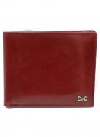 D&G(ドルチェ&ガッバーナ)の古着「2つ折り財布」|レッド