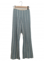 TODAYFUL(トゥデイフル)の古着「総柄ジャガードパンツ」|グリーン×ベージュ