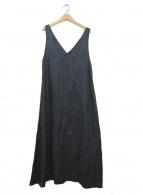 1er Arrondissement(プルミエ アロンディスモン)の古着「キュプラサテンワンピース」|ブラック