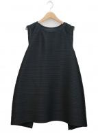 PLEATS PLEASE(プリーツプリーズ)の古着「プリーツデザインブラウス」|ブラック