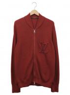 LOUIS VUITTON(ルイ・ヴィトン)の古着「LVロゴニットブルゾン」|ボルドー