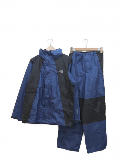 THE NORTH FACE(ザノースフェイス)THE NORTH FACE (ザノースフェイス) セットアップジャケット ブルー×ブラック サイズ:M  SUMMIT SERIES RAINTEX NP10311の古着・服飾アイテム