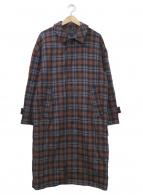 HARE(ハレ)の古着「ステンカラーコート」|ブラウン×ブラック