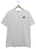 PLAY COMME des GARCONS(プレイコムデギャルソン)の古着「ロゴTシャツ」|ホワイト