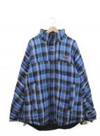 NAPA by MARTINE ROSE(ナパ・バイ・マーティンローズ)の古着「リバーシブル中綿ジャケット」 ブルー
