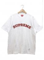 Supreme(シュプリーム)の古着「ロゴ刺繍Tシャツ」|ホワイト×レッド