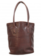 HIROFU(ヒロフ)の古着「レザーバケツトートバッグ」|ブラウン