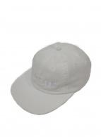 Supreme(シュプリーム)の古着「ロゴ刺繍スナップバックキャップ」|ホワイト