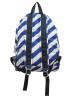 KENZO (ケンゾー) デイパック ホワイト×ブルー STRIPED NYLON BACKPACK F855SF213F28 SU1107:4800円