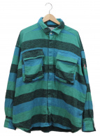C.E(シーイー)の古着「CPOフランネルジャケット」 グリーン×ブルー