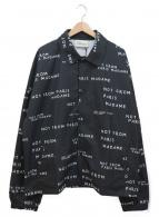 DROLE DE MONSIEUR(ドロールドムッシュ)の古着「コーチジャケット」|ブラック×ホワイト