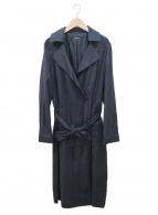 LAUTRE AMONT(ロートレアモン)の古着「ストレッチフェイクスウェードラップコート」 ネイビー