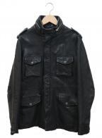 ETONNE(エトネ)の古着「レザージャケット」|ブラック
