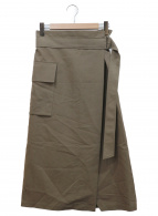 PLAIN PEOPLE(プレインピープル)の古着「サイドポケットベルテッドスカート」|カーキ