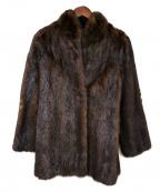 SAGA MINK(サガミンク)の古着「ファージャケット」|ブラウン