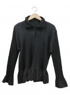 PLEATS PLEASE(プリーツプリーズ)の古着「フレアスリーブプリーツシャツ」|ブラック